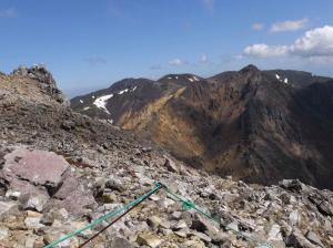 04茶臼岳9合目から右 朝日岳