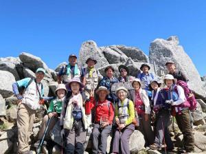 55中岳山頂でMB