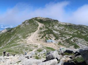 77中岳より木曽駒ケ岳を望む